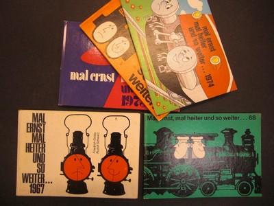 mal ernst mal heiter und so weiter... 1968. Einführung von Hans Glaser. (Humorvolles um die Eisenbahn, Schienenverkehr und um die Fahrgäste)