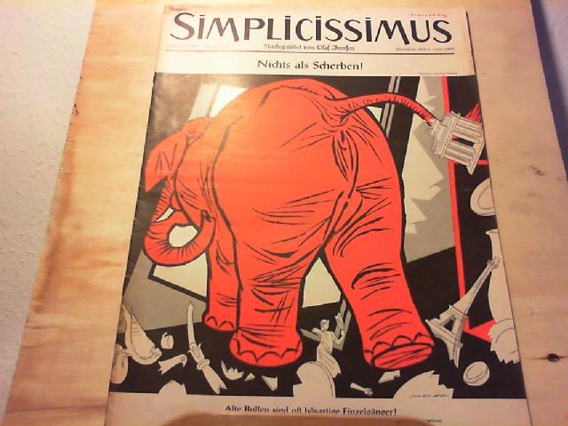 SIMPLICISSIMUS. 4. Juni 1960, Nr. 23 / Jahrgang 1960. Neubegründet von Olaf Iversen. Satirisches