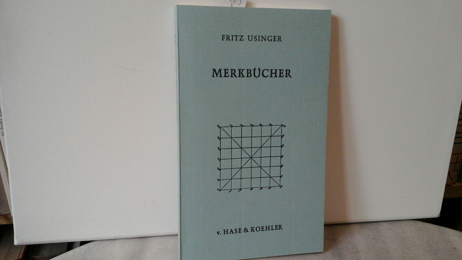 USINGER, FRITZ: Merkbücher. 1950-1975. Erste/1./ Auflage.
