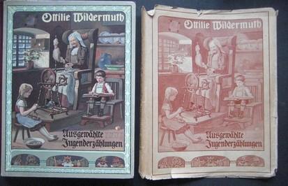Ausgewählte Jugenderzählungen. Die besten Kindergeschichten Ottilie Wildermuths. Ausgewählt von ihrer Tochter Adelheid Wildermuth. Mit einem mehrfarbigen Deckenbild, vier mehrfarbigen Einschaltbildern und neun zweifarbigen Abbildungen im Text. Siebente /7./Auflage.
