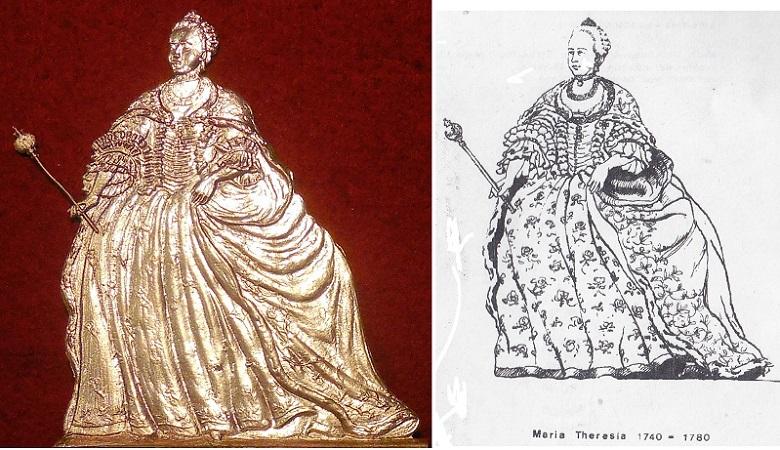 Kaiserin Maria Theresia (1740-1780) - Zinnfigur 90mm - blank
