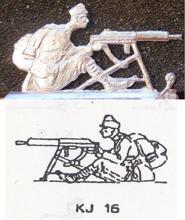 Österreichische schwere Artillerie WW 1-16 Fohler Zinnfiguren 30mm K.u.K