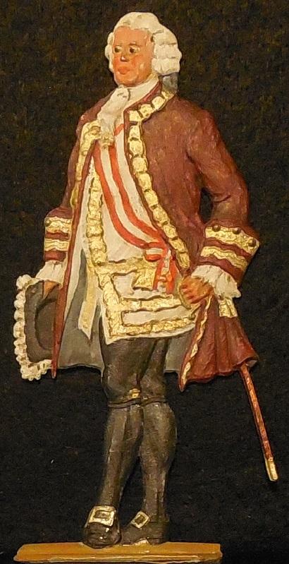 Kaiser Franz I. (1745-1765) Maria Theresias Gemahl - Zinnfigur 90mm - bemalt