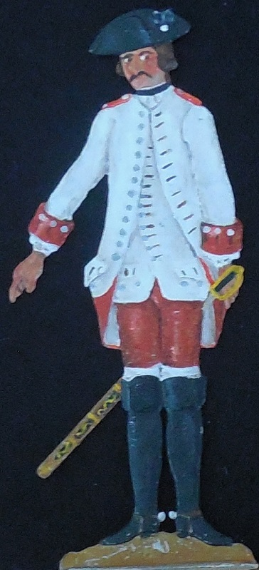 Kürassier Regiment K 8 Trauttmannsdorff 1762 - Albertina-Handschrift - Zinnfigur 90mm - bemalt
