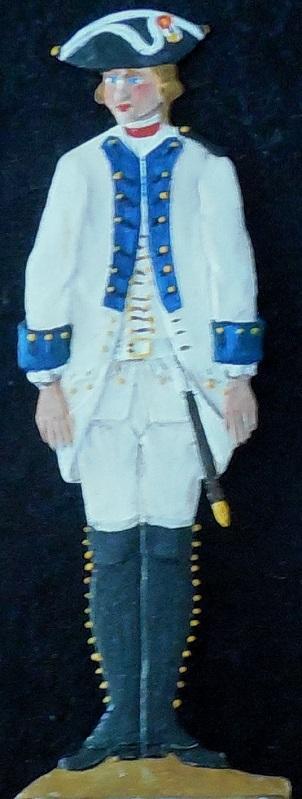 Infanterieregiment Harrach 1762 (IR 47) - Albertina-Handschrift - Zinnfigur 90mm - bemalt