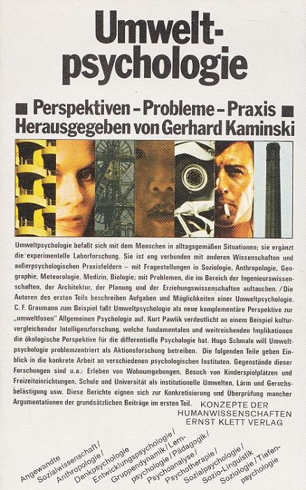 Umweltpsychologie : Perspektiven, Probleme, Praxis. hrsg. von Gerhard Kaminski / Konzepte der Humanwissenschaften