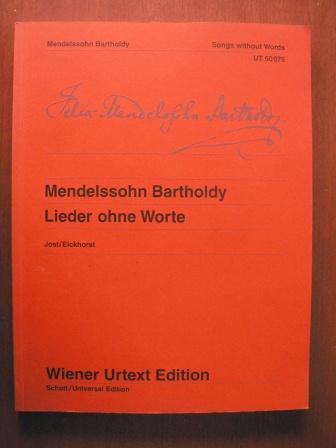 Lieder ohne Worte - Songs without Words:  Nach Autografen, Abschriften und Erstausgaben. - Felix Mendelssohn Bartholdy/Christa Jost