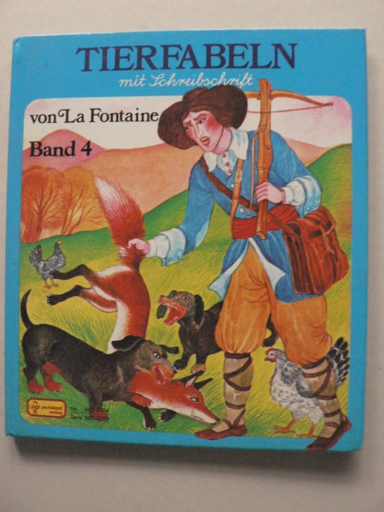 Gisela Fischer/Violayne Hulne (Illustr.) Tierfabeln von La Fontaine. Band 4  (mit Schreibschrift)