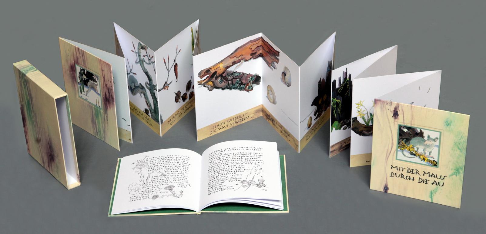 Mit der Maus durch die Au. Ein Faltbuch, nicht nur für Kinder!