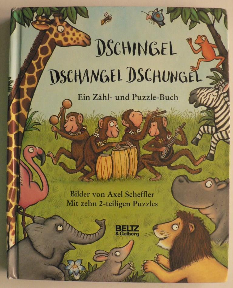 Dschingel Dschangel Dschungel - Ein Zähl- und Puzzle-Buch. Mit zehn 2-teiligen Puzzles