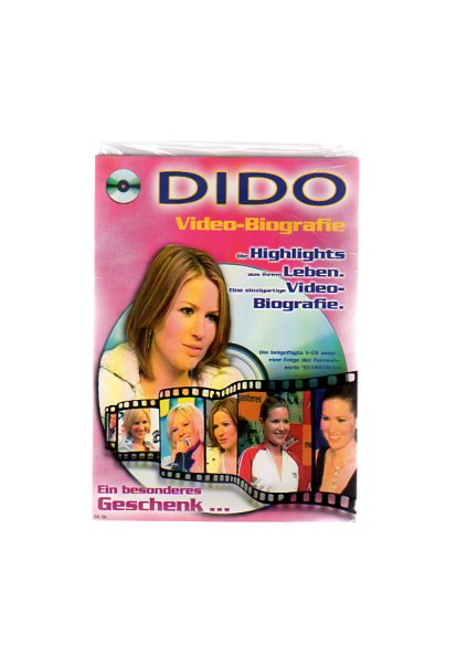 """Dido - Geschenkkarte mit Video-Biografie. Die beigefügte VCD zeigt eine Folge der Fernsehserie """"Starstruck"""""""
