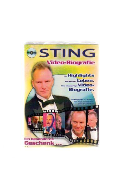 """Sting - Geschenkkarte mit Video-Biografie. Die beigefügte VCD zeigt eine Folge der Fernsehserie """"Starstruck"""""""