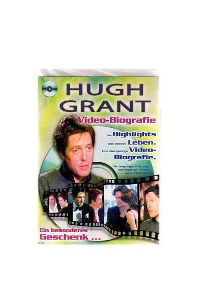 """Hugh Grant - Geschenkkarte mit Video-Biografie. Die beigefügte VCD zeigt eine Folge der Fernsehserie """"Starstruck"""""""