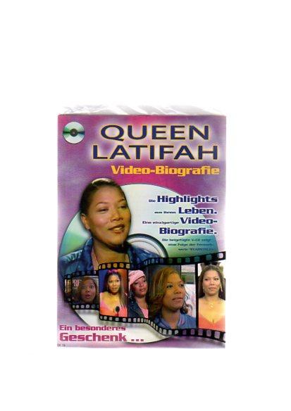 """Queen Latifah - Geschenkkarte mit Video-Biografie. Die beigefügte VCD zeigt eine Folge der Fernsehserie """"Starstruck"""""""