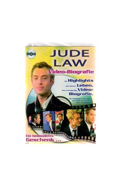 """Jude Law - Geschenkkarte mit Video-Biografie. Die beigefügte VCD zeigt eine Folge der Fernsehserie """"Starstruck"""""""
