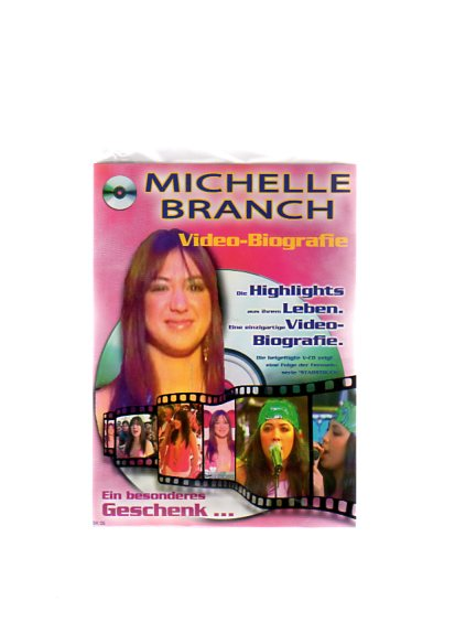"""Michelle Branch - Geschenkkarte mit Video-Biografie. Die beigefügte VCD zeigt eine Folge der Fernsehserie """"Starstruck"""""""