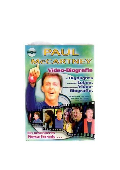"""Paul McCartney - Geschenkkarte mit Video-Biografie. Die beigefügte VCD zeigt eine Folge der Fernsehserie """"Starstruck"""""""