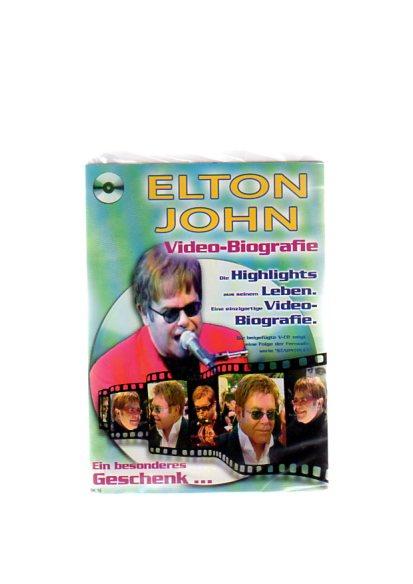 """Elton John - Geschenkkarte mit Video-Biografie. Die beigefügte VCD zeigt eine Folge der Fernsehserie """"Starstruck"""""""