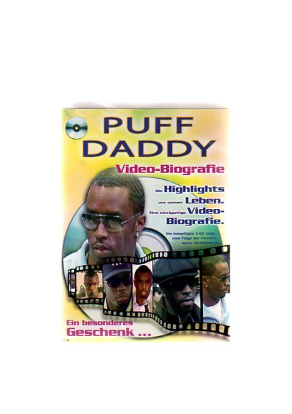 """Puff Daddy - Geschenkkarte mit Video-Biografie. Die beigefügte VCD zeigt eine Folge der Fernsehserie """"Starstruck"""""""