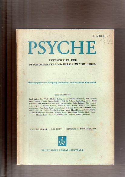 W. und Alexander Mitscherlich:, Hochheimer: Psyche. Eine Zeitschrift für psychologische und medizinische Menschenkunde, Heft9-11 1968