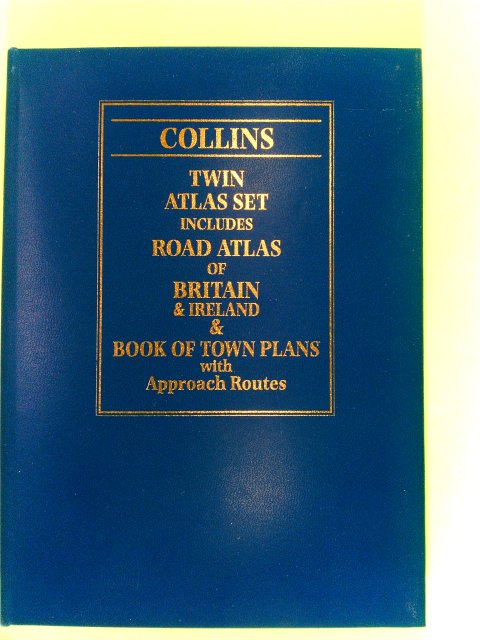 Collins Twin Atlas Set Includes Road Atlas of Britain & Ireland & Book of Town Plans with Approach Routes