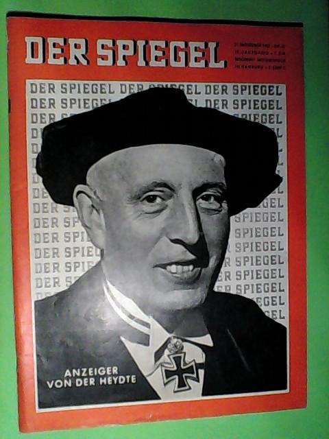 Der Spiegel Nr. 47/1962  Anzeiger von der Heydte Auflage: o. A.