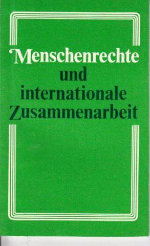 Menschenrechte und internationale Zusammenarbeit