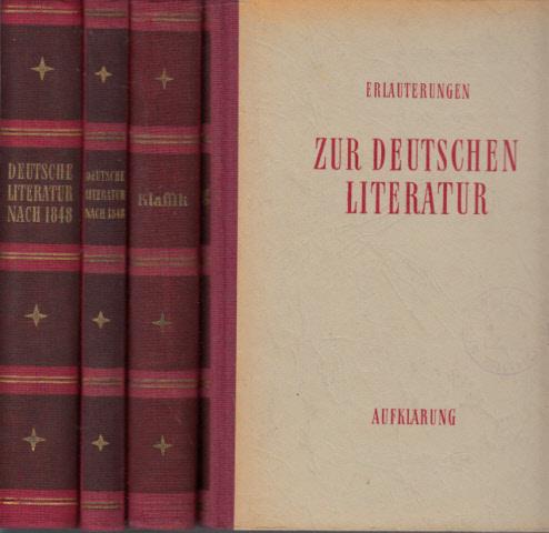 Erläuterungen zur Deutschen Literatur nach 1848 - Leseproben zur Deutschen Literatur nach 1848 - Erläuterungen zur Deutschen Literatur, Klassik - Erläuterungen zur Deutschen Literatur, Aufklärung 4 Bücher