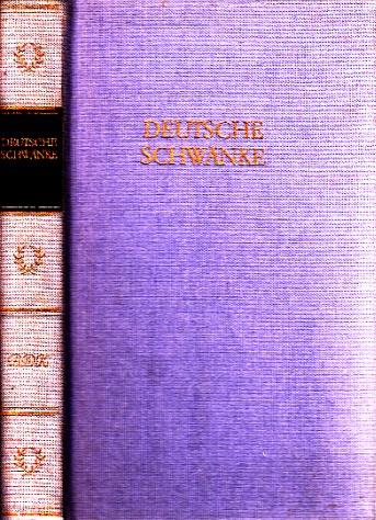 Deutsche Schwänke in einem Band 5. Auflage