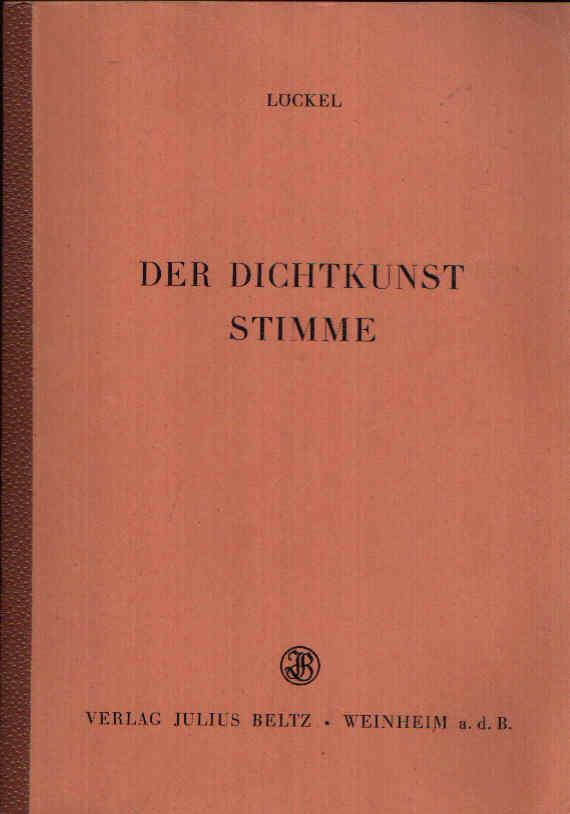 Der Dichtkunst Stimme Einführungen in deutsche Gedichte