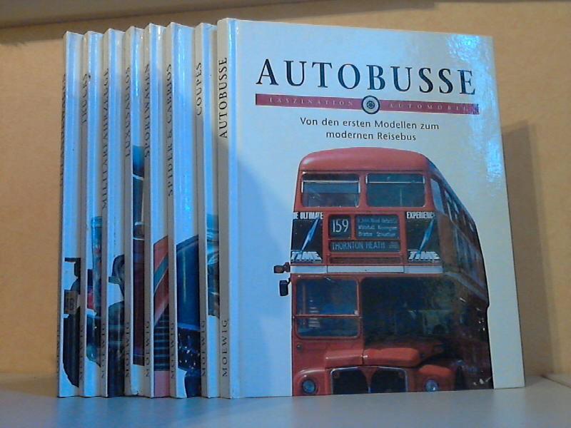 Mazza, Franco; FASZINATION AUTOMOBIL: Geländewagen - Trucks - Militärfahrzeuge - Luxusautos - Sportwagen - Spider und Cabrios - Coupés - Autobusse 8 Bücher
