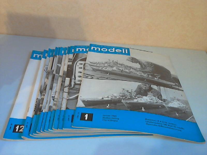 Modell Zeitschrift für neuzeitliche Selbstbautechnik mit R/C- und Transistor-Elektronik -  8. Jg. Hefte 1 bis 12/1965 12 Hefte
