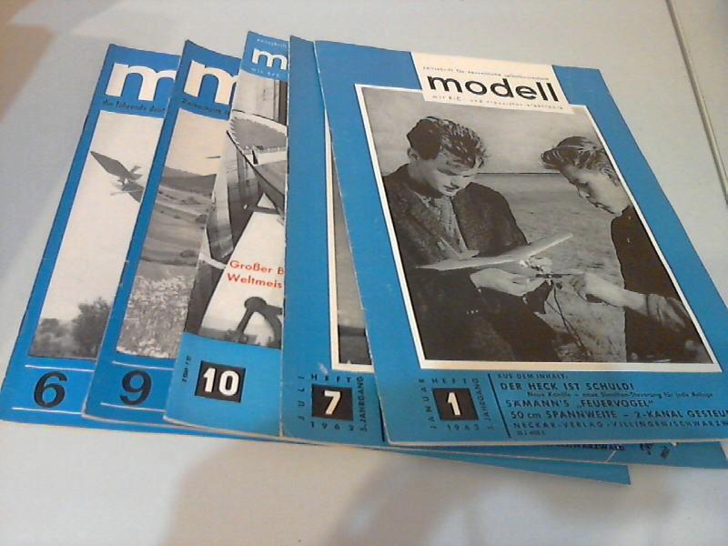 Modell Zeitschrift für neuzeitliche Selbstbautechnik mit R/C- und Transistor-Elektronik -  Hefte 1/1962, 7/ 1962, 10/1965, 9/1967, 6/1968 5 Hefte