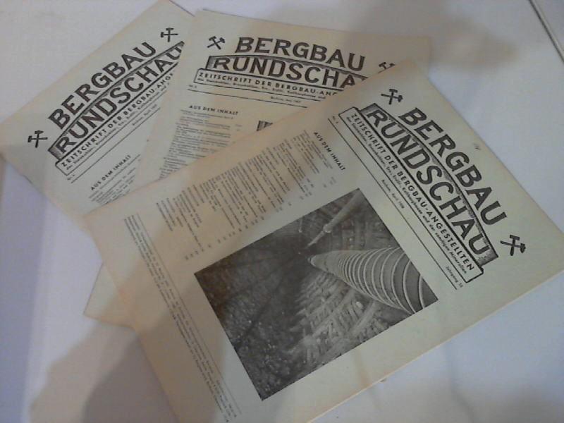 Bergbau Rundschau - Zeitschrift der Bergbau-Angestellten des Steinkohlen-, Braunkohlen-, Erz-, Erdöl-, Kalibergbaues und der sonstigen Mineralien Nr. 4, Nr. 6/1957, Nr. 4/1958 3 Hefte