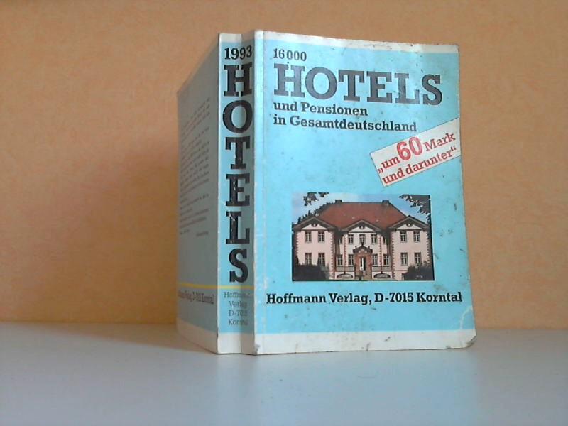 Hotels und Pensionen um 60 Mark und darunter