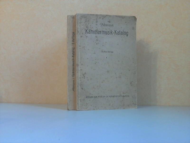 Kammermusik-Katalog - Ein Verzeichnis von seit 1841 veröffentlichten Kammermusikwerken