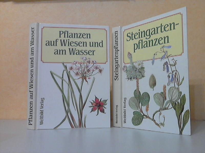 Steingartenpflanzen + Pflanzen auf Wiesen und am Wasser 2 Bücher genehmigte Lizensausgabe