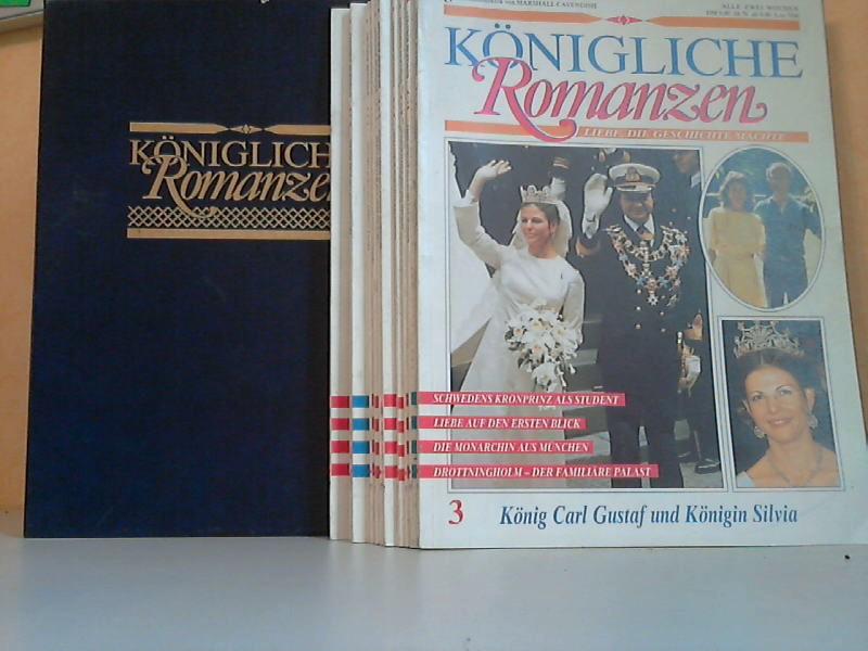 Königliche Romanzen Hefte 3, 4, 5, 6, 7, 9, 10, 11, 13, 14, 15 11 Hefte in einem Schuber
