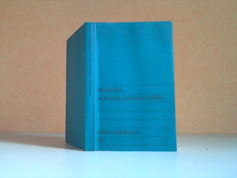 """Bertolt Brecht. Aufzeichnungen zu """"Leben des Galilei"""" 4. Auflage, 30.-40. Tausend"""