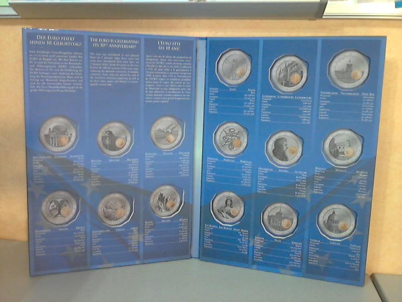 10 Jahre Euro - leeres Sammelalbum für 15 Münzen