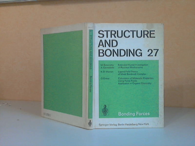 Structure and Bonding Volume 27 With 80 Figures and 34 Tables