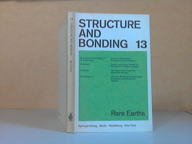 Structure and Bonding Volume 13 With 70 Figures