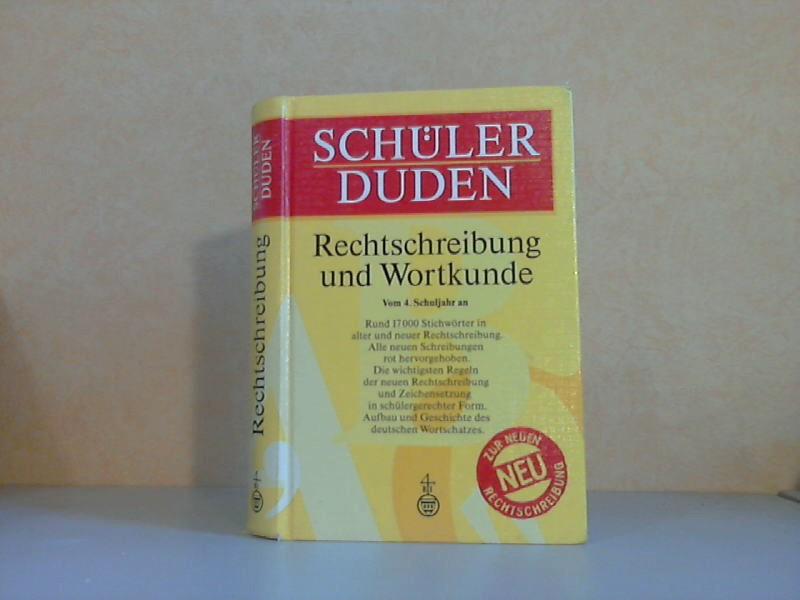 Schülerduden. Rechtschreibung und Wortkunde - Vom 4. Schuljahr an