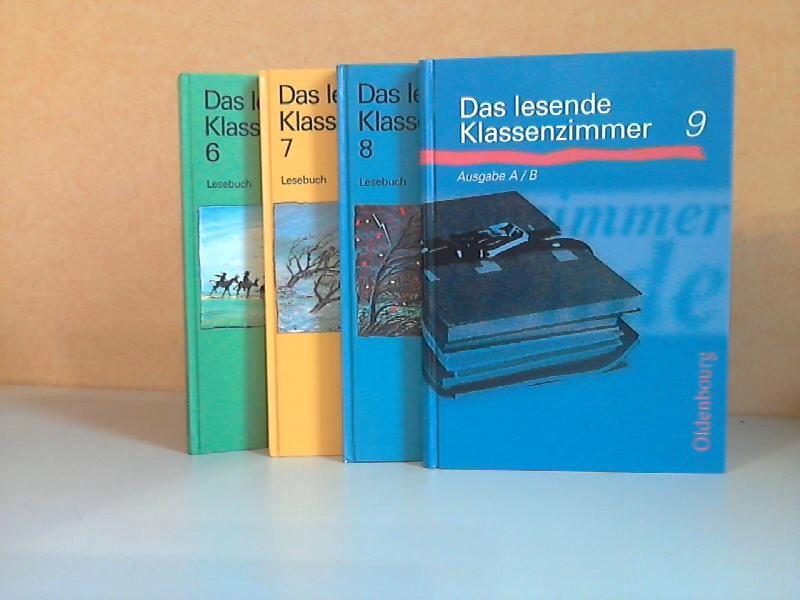 Das lesende Klassenzimmer 6, 7, 8, 9 - Lesebuch 6., 7., 8., 9. Schuljahr 4 Bücher, Illustriert von Jörg Drühl