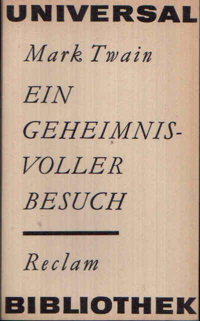 Ein Geheimnisvoller Besuch Skizzen - Reclam Universal-Bibliothek Band 236 4. Auflage