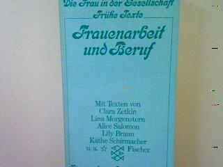Frauenarbeit und Beruf. (Nr. 2046) - Brinker-Gabler, Gisela