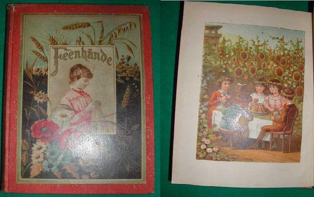 Feenhände. Eine Erzählung für junge Mädchen von Emma Laddey. Mit 5 Farbdrucktafeln nach Aquarellen von F. Lipps Zweite vermehrte Auflage.
