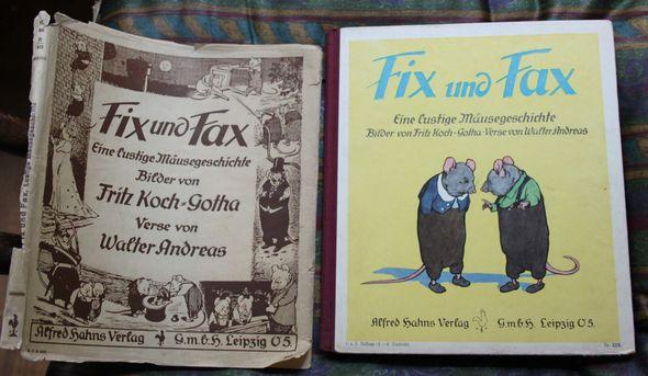 Fix und Fax Eine lustige Mäusegeschichte 1. u. 2. Auflage (1.-8.Tsd.); Verlagsnummer 33S