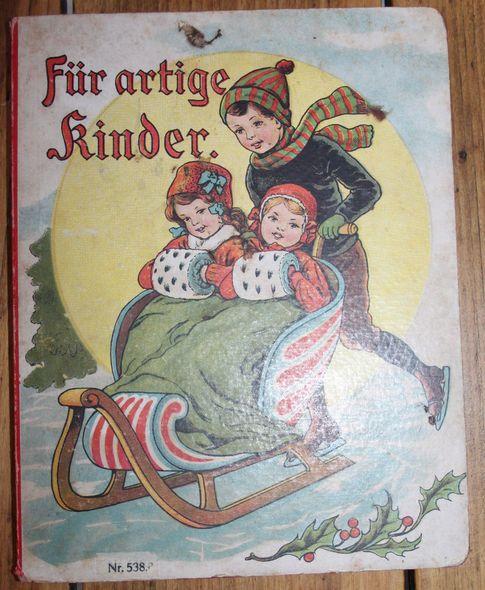 Für artige Kinder Pappbilderbuch um 1900