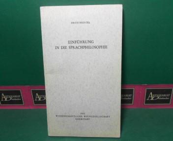 Einführung in die Sprachphilosophie 1.Auflage,
